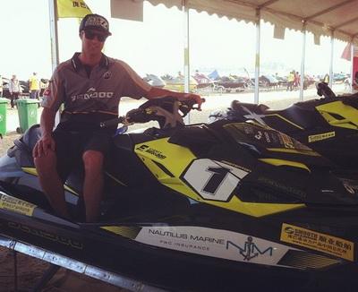 James Masterton qualified 6th in Asia Aquabike race
